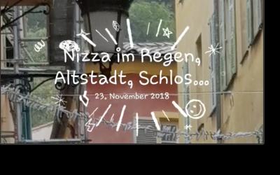 Nizza im Regen, Altstadt, Schloss
